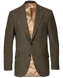 Edward Wool Donegal Blazer Moss