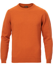 Heavy Knitted Merino Crew Neck Orange