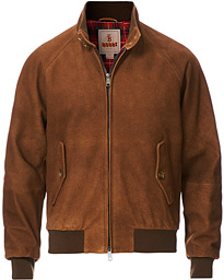 G9 Padded Winter Suede Harrington Jacket Tobacco
