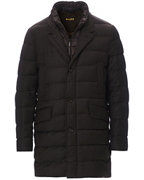 Padded Flannel Coat Brown