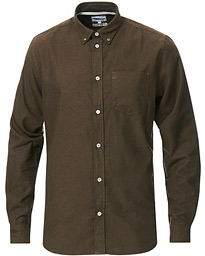 Anton Brushed Flannel Shirt Dark Green