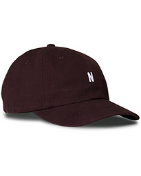 Twill Sports Cap Eggplant Brown