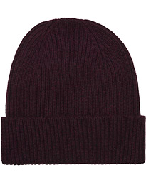 Merino Wool Beanie Oxblood Red