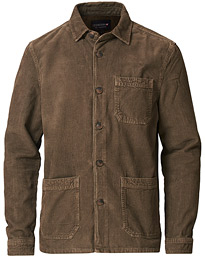 Robert Cord Overshirt Green