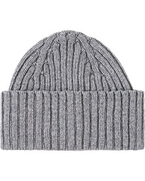 Lambswool Ribbed Hat Grey