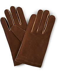 Philippe Chamoise Wool Lined Glove Brown
