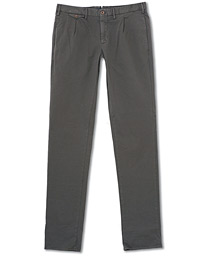 Incotex Slim Fit Micro Weave Chinos Grey