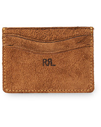 RRL Ranch Suede Cardholder Brown Suede