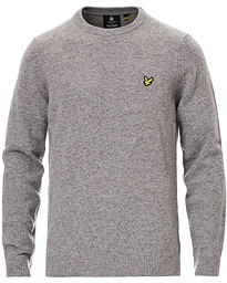 Lyle & Scott Lambswool Crew Neck Pullover Mid Grey Marl