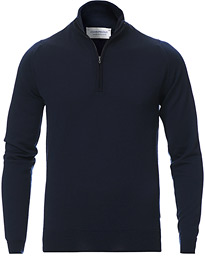Barrow Extra Fine Merino Half Zip Midnight