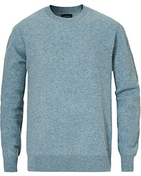 Knitted Ombre Round Neck Blue