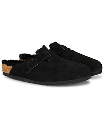 Boston Fur Lining Black Suede