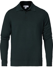 Long Sleeve Polo Forest