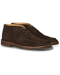 Crosby Moc-Toe Suede Chukka Boots Dark Brown