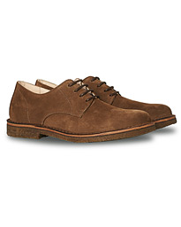 Cityflex Plain Toe Derby Brown Suede