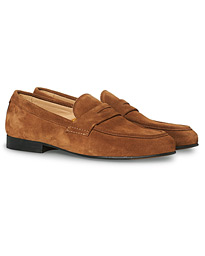 Klement Penny Loafer Cognac Suede
