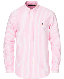 Slim Fit Oxford Striped Shirt Pink/White