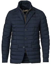 Nuage Matt Nylon Blazer Jacket Deep Blue