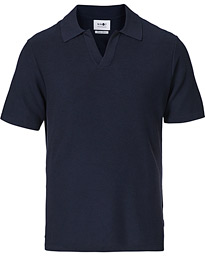 Ryan Knitted Polo Navy