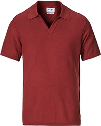 Ryan Knitted Polo Red