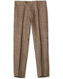 Rodney Linen Trousers Brown