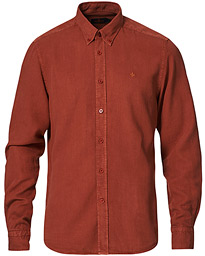 Lucien Tencel Button Down Shirt Red
