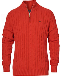 John Half Zip Cable Red