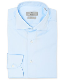 Slim Fit Stretch Shirt Light Blue