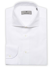 Slim Fit Linen Dress Shirt White