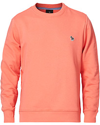 Regular Fit Zebra Sweatshirt Peach