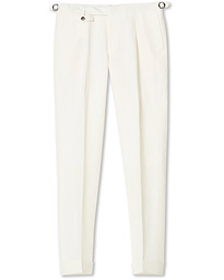 Jason Linen/Wool Trousers Creme