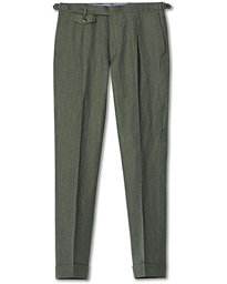 Jason Linen/Wool Trousers Olive