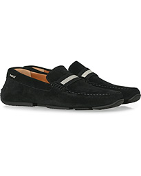 Pearce Car Shoe Black Suede