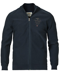 MA1259 Cotton Full Zip Sweater Navy