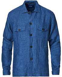 Linen Overshirt Blue