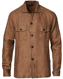 Linen Overshirt Soft Brown