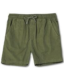 Classic Organic Twill Drawstring Shorts Dusty Olive