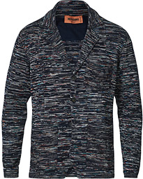 Space-Dye Knitted Blazer Navy
