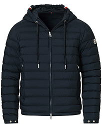 Eus Down Hooded Jacket Navy