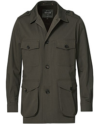 Cotton Twill Safari Jacket Olive