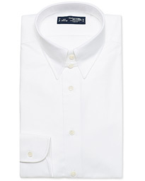 Slim Fit Oxford Tab Collar Shirt White