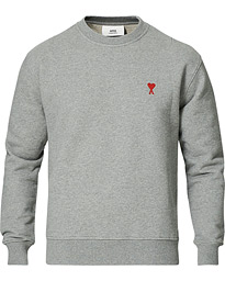 Heart Logo Sweatshirt Grey Melange