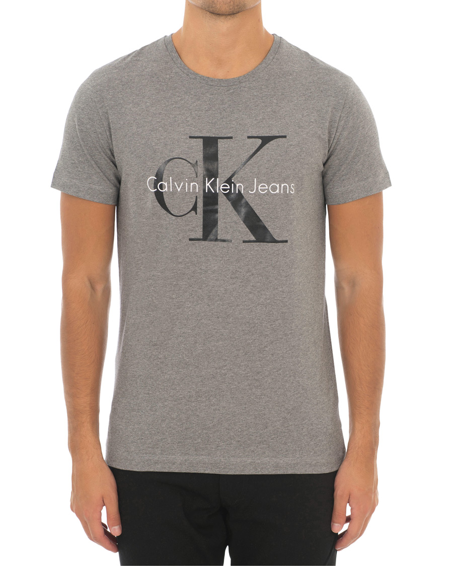 Calvin Klein Jeans True Icon Crew Neck Tee Mid Grey Heather osoit ce1d8ae81a