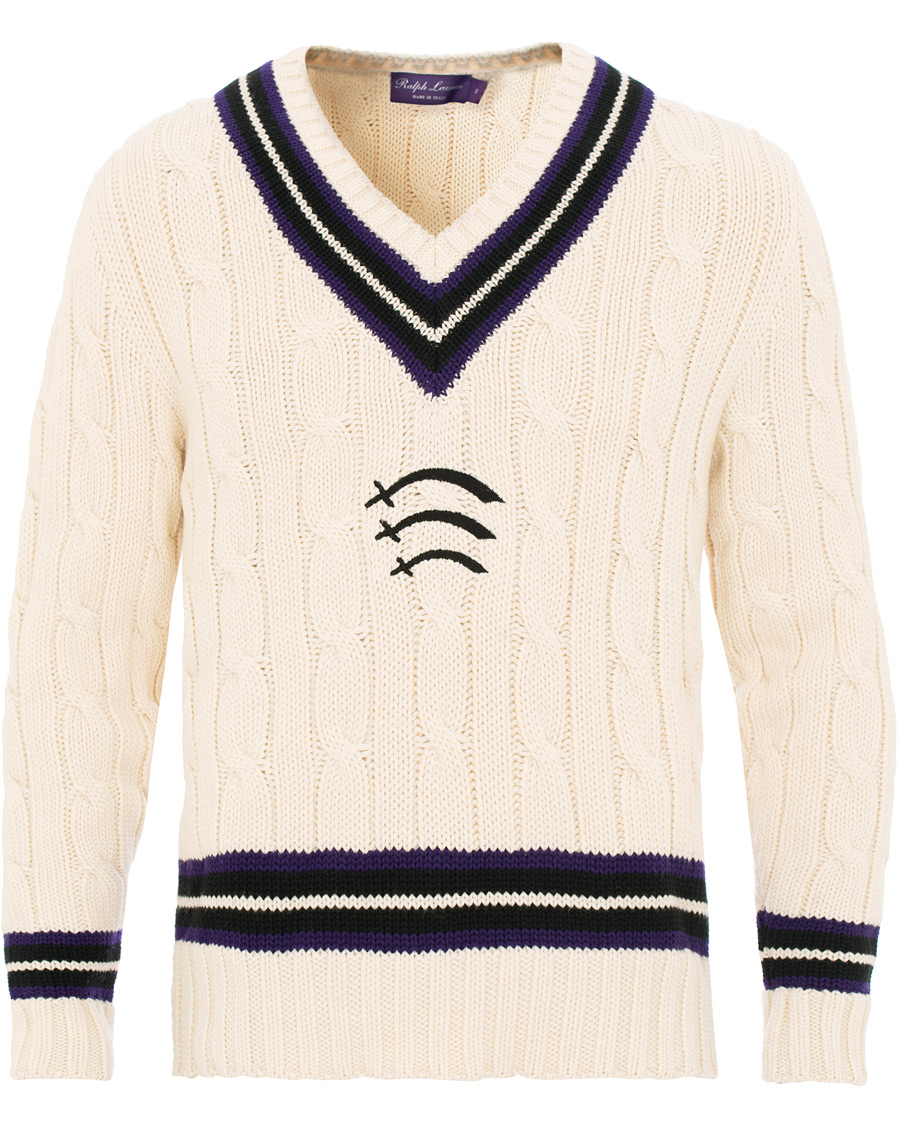 Ralph Lauren Purple Label Cable Cricket Sweater White osoitteesta 20cf2dea51