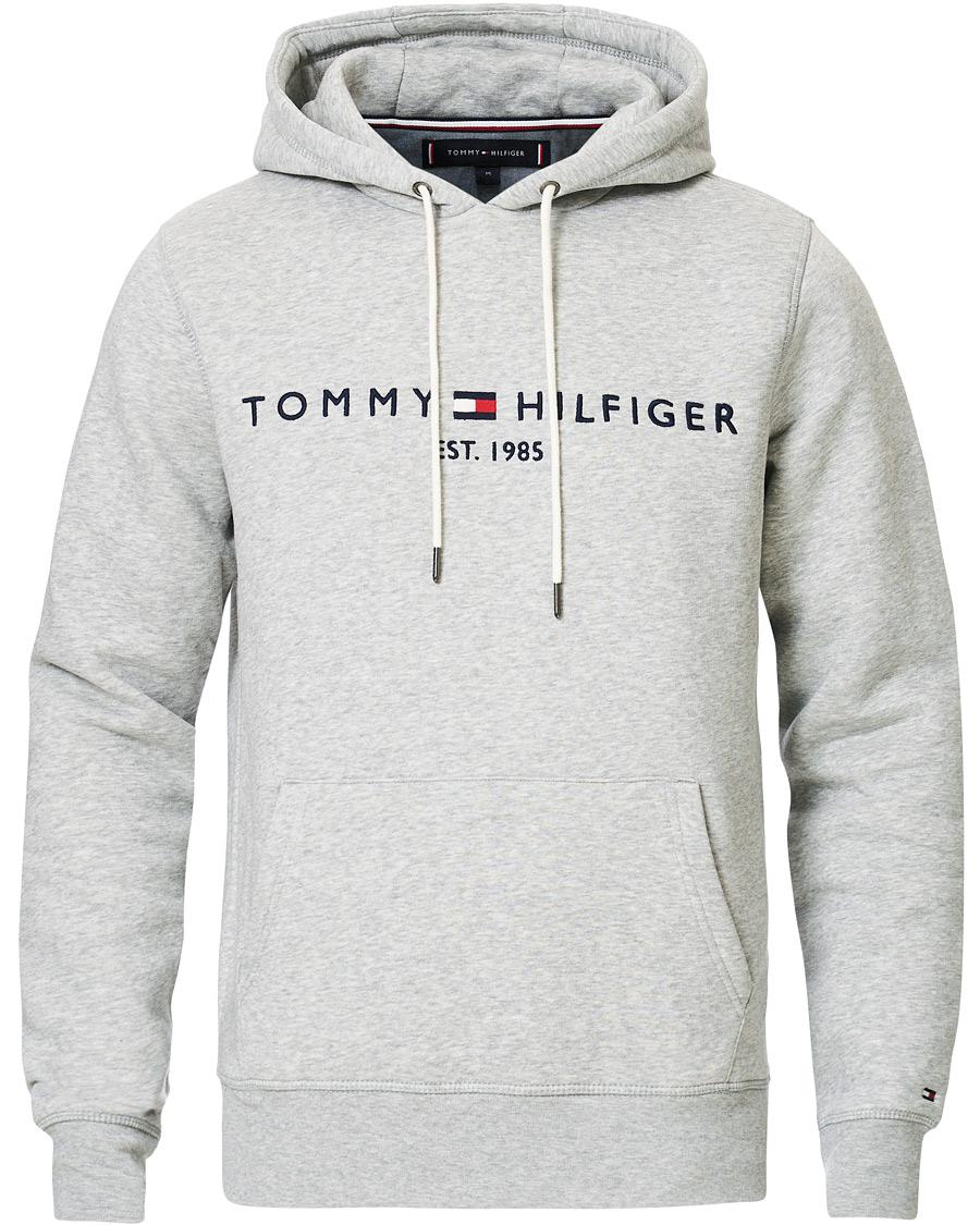 paras arvo uk saatavuus tukkukauppa Tommy Hilfiger Logo Hoodie Cloud Heather XL